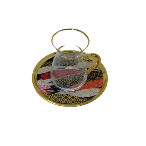 COFFEE CUP SET WITH PRINTED SAUCER