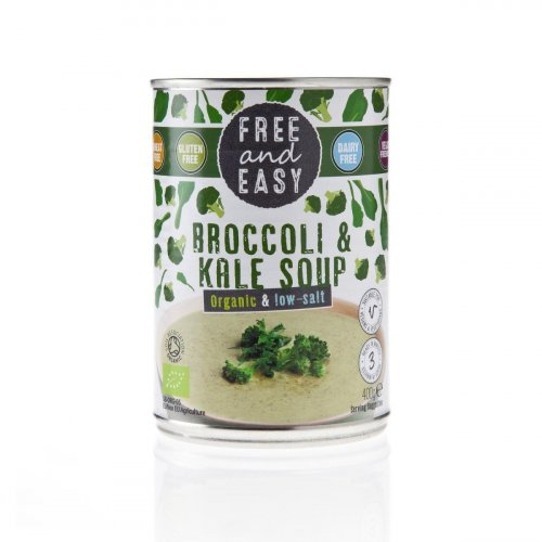 FREE AND EASY - BROCCOLI & KALE - LOW SALT SOUP 400G