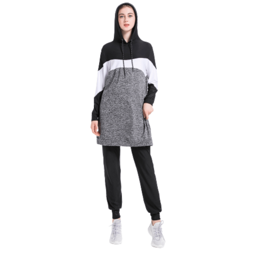 SPORTS WEAR SET JOGGING PANTS AND JACKET WITH HOOD FOR WOMEN