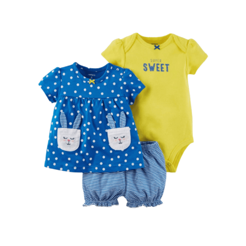 SET OF CLOTHES FOR BABY GIRL 3 PCS