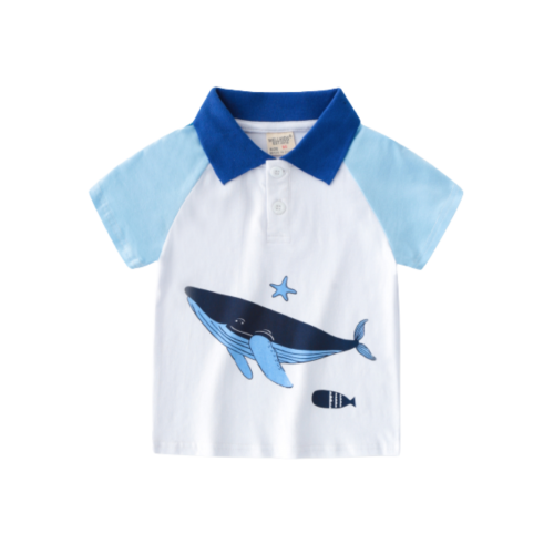 POLO SHIRT FOR BABY BOY WITH DOLPHIN DESIGN