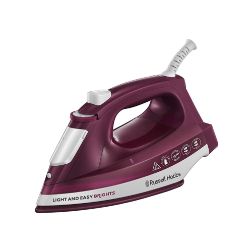 STEAM IRON LIGHT AND EASY BRIGHTS 24820 RUSSELL HOBBS