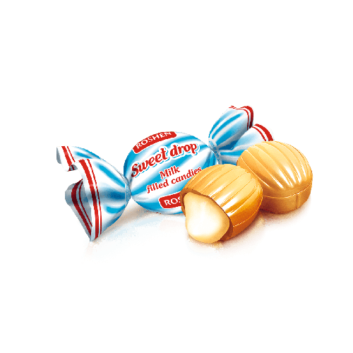 ROSHEN SWEET DROP CARAMEL CANDY WITH CREAMY MILK FILLING