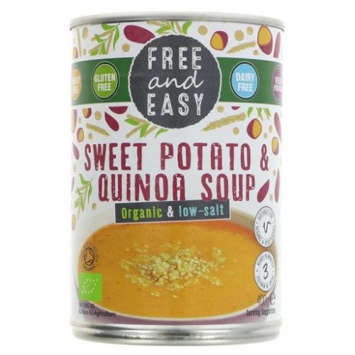 SWEET POTATO & QUINOA LOW SALT SOUP FREE AND EASY 400G