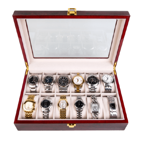 FANCY WATCHES WOODEN BOX