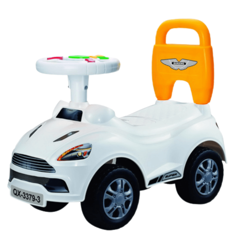 KIDS TOLO CAR WITH MUSIC WHITE