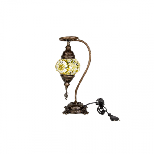 LAMP WITH MOSAIC COLOURED GLASS