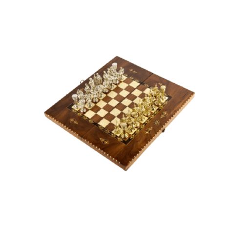 BACKGAMMON AND CHESS TABLE SET
