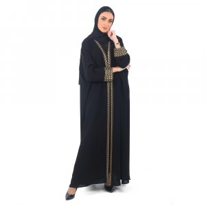 ABAYA OCCASION OVERLAPPED GOLD A0180