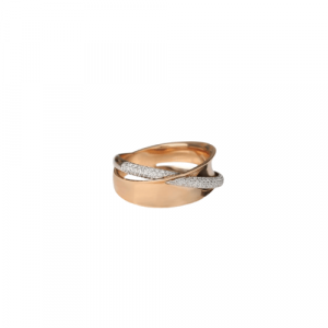 WHITE & ROSE GOLD WITH DIAMOND RING MODEL 0023