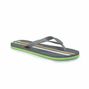 MEN SLIPPER WITH TWO COLOR LINE GREY