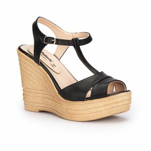 WOMEN SANDALS WEDGE STYLE BLACK