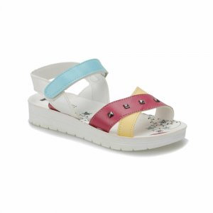 GIRLS SANDAL WITH FLORAL INSOLE FUCHSIA PINK
