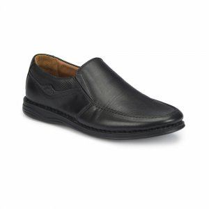 MEN SHOES LEATHER WITH BROWN LINING BLACK