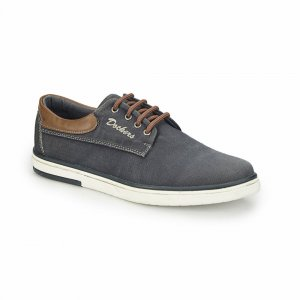 MEN SHOES WITH PRINTED BRAND NAVY BLUE