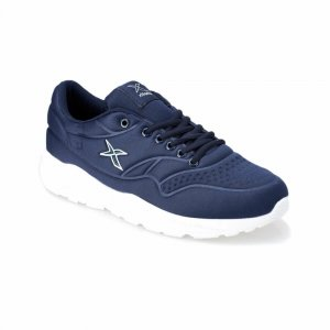 MEN SHOES WITH CHUNKY WHITE MID SOLE NAVY BLUE/LACI