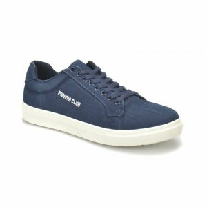 MEN SNEAKER SHOES NAVY BLUE  WITH PANAMA CLUB PRINTED DESIGN
