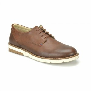 MEN SHOES FORMAL BROWN IN BROGUE DESIGN WITH WHITE OUTSOLE