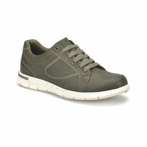 MEN SHOES SEMI FORMAL DESIGN IN GRAY WITH WHITE OUTSOLE