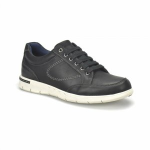 MEN SHOES SEMI FORMAL DESIGN IN BLACK WITH WHITE OUTSOLE