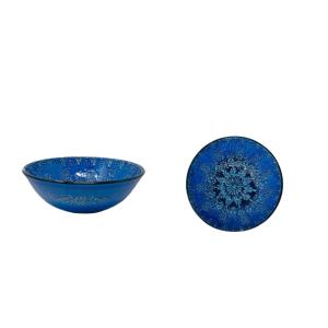 CERAMIC BLUE BOWL 25 CM