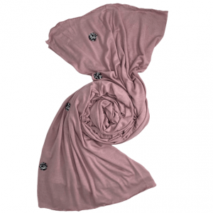 COTTON SCARVES WITH SOFT STONES  DIFFERENT COLORS