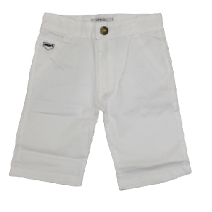 BOY SHORT W/ EMBROIDED SMART WHITE