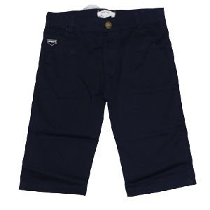 BOY SHORT WITH EMBROID SMART NAVY BLUE