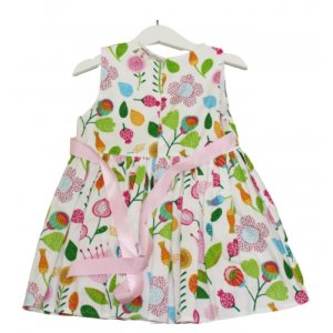GIRL DRESS FRUITS AND FLOWER DESIGN