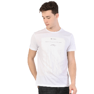 MEN T-SHIRT SHORT SLEEVE WITH INSPIRE PRINTED DESIGN WHITE