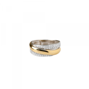 WHITE & YELLOW GOLD WITH DIAMONDS RING MODEL 0024