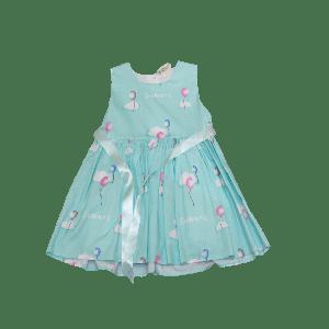 GIRL DRESS BALLONS DESIGN LIGHT BLUE
