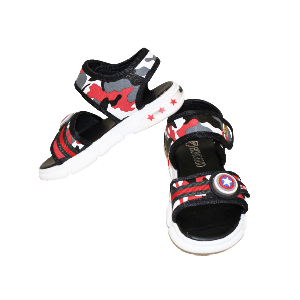 BABY BOY SANDAL RED CAMOUFLAGE WITH STRAP