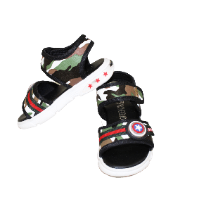 BOY SANDAL CAMOUFLAGE GREEN WITH STRAP