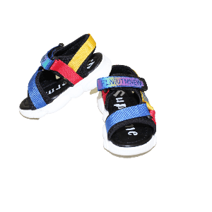 BABY BOY SANDAL METTALIC WITH STRAP BLUE/YELLOW