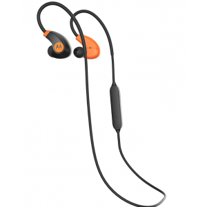 MOTOROLA VERVE LOOP2+ BLUETOOTH HEADPHONES BLACK/ORANGE