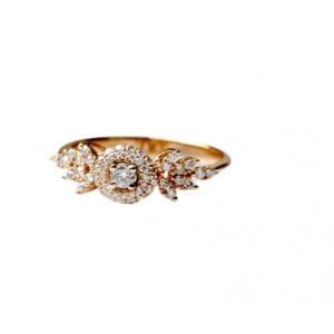 YELLOW GOLD WITH DIAMONDS RING MODEL 0028
