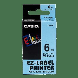 CASIO LABEL TAPE BLACK ON WHITE XR-6X1-W-DJ1
