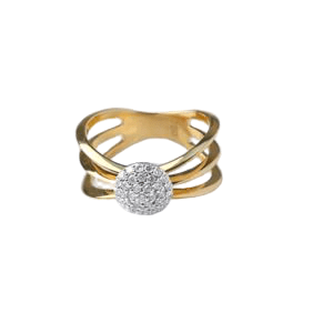 YELLOW GOLD WITH DIAMONDS RING MODEL 0030