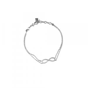 WHITE GOLD WITH DIAMONDS INFINITY BRACELET MODEL 0010