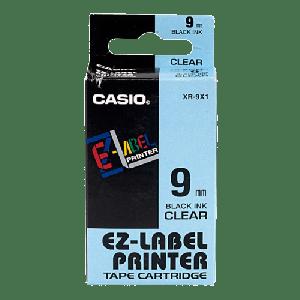 CASIO LABEL TAPE BLACK ON CLEAR XR-9X1-W-DJ1