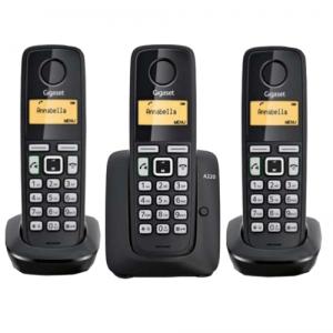 GIGASET A220 TRIO CORDLESS PHONE