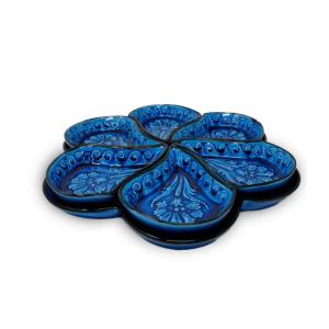BLUE CERAMIC PLATES SET