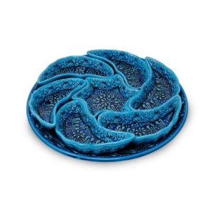 CERAMIC BLUE PLATES SET