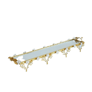 RECTANGULAR GOLD PLATED TRAY