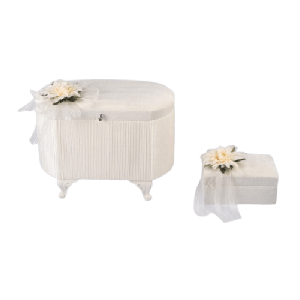 BRIDE BOX WITH FLOWER AND RIBBON
