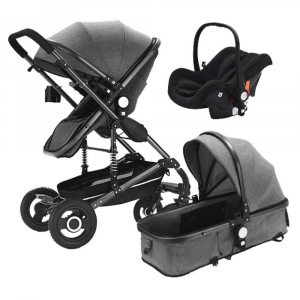 BABY STROLLER 3 IN 1 MULTI-FUNCTIONAL WITH BABY CARRY BASKET AND CAR SEAT