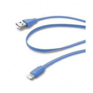 CELLULARLINE FLAT DATA CABLE IPH5 BLUE USBDATACFLMFIIPH5B