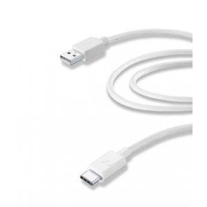 CELLULARLINE TYPE-C DATA CABLE 2M WHITE USBDATACUSBC2MW