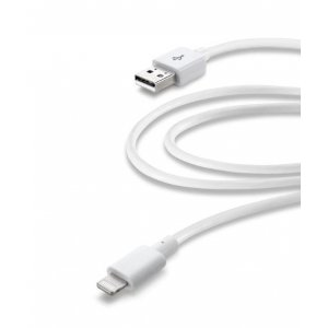 CELLULARLINE WHITE USB DATA CABLE MFI 2MT FOR IPH5 USBDATACMFIIPH52MW